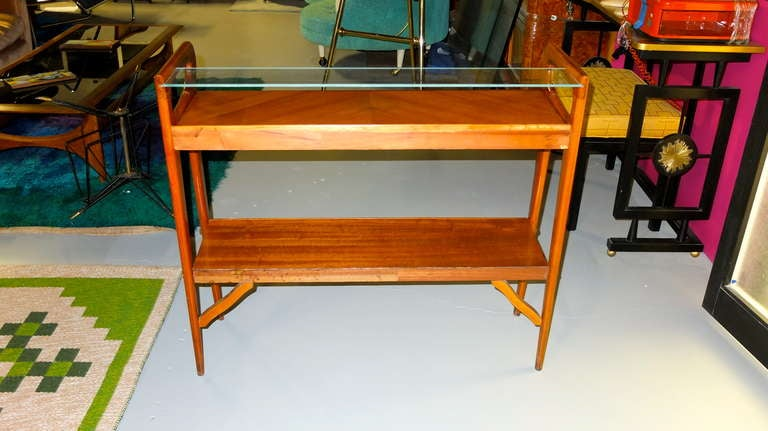 1950's Italian Console Table After ico Parisi For Sale 3