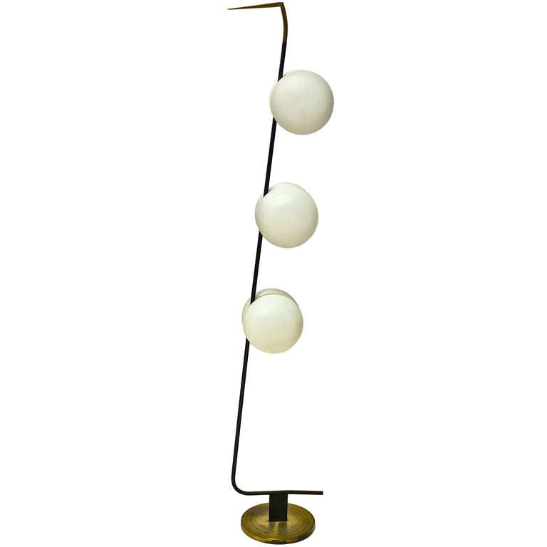 French 1950's 6 Globe Floor Lamp by Lunel For Sale