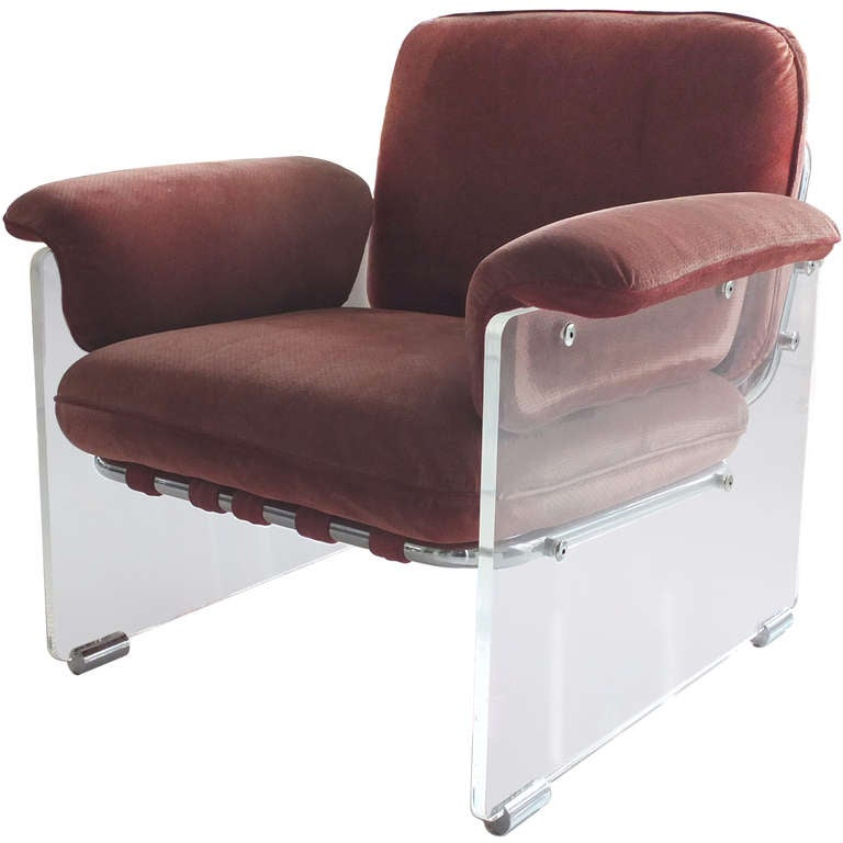 Pace Collection Lucite Lounge Chair at 1stdibs