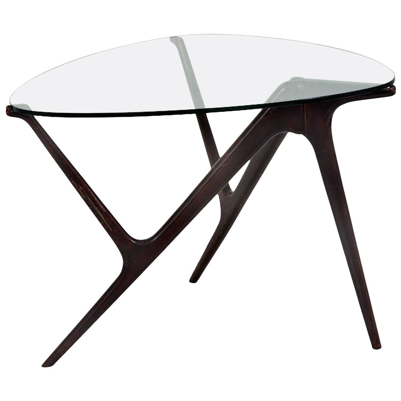 1950s Italian Occasional Table in the Style of Carlo Mollino For Sale