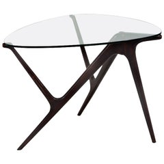 1950s Italian Occasional Table in the Style of Carlo Mollino