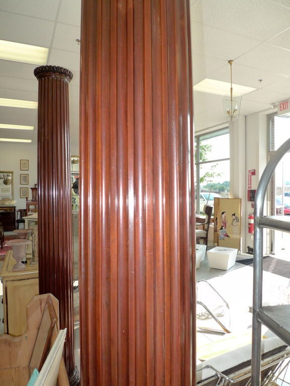 Pair of Antique Mahogany Columns 7