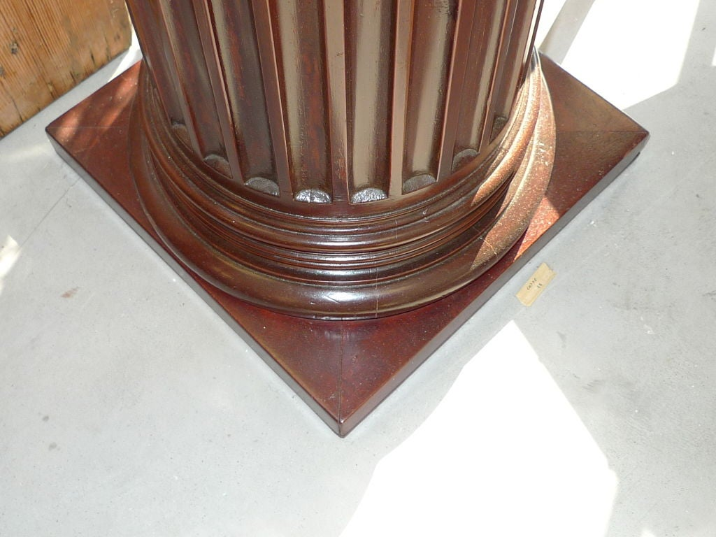 Pair of Antique Mahogany Columns 8
