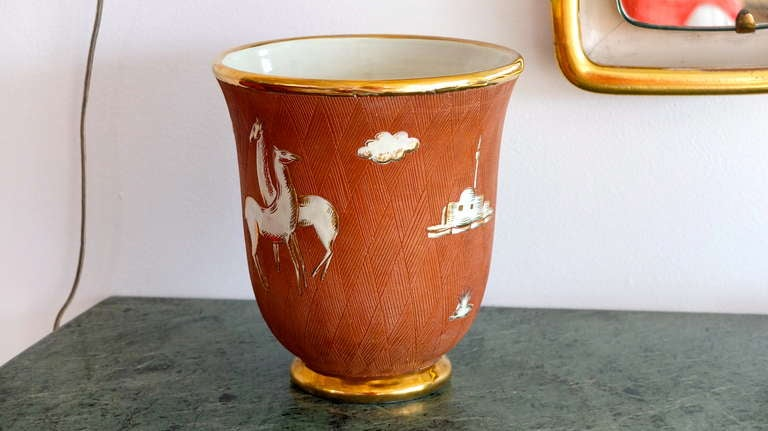 Italian Art Deco Vase In Good Condition For Sale In Hingham, MA