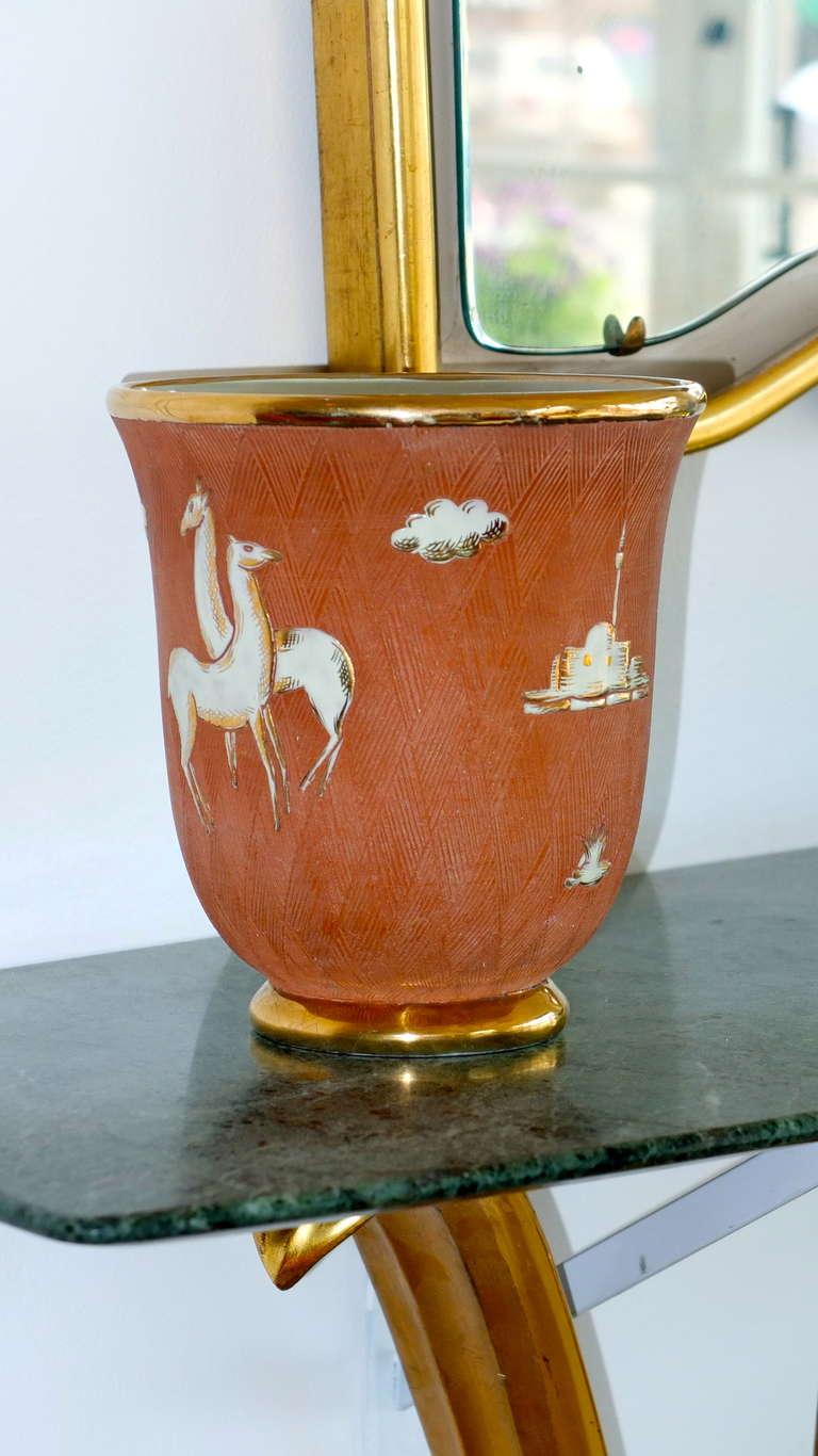 Italian Art Deco Vase For Sale 1