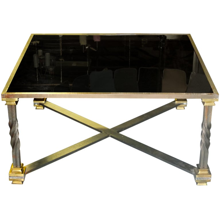 Large Square Cocktail Table At 1stdibs