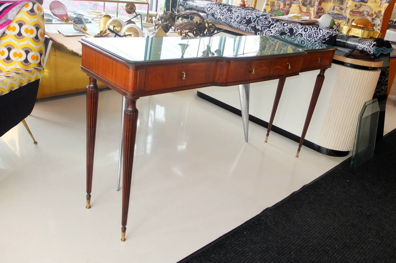 Paolo Buffa Style Rosewood and Mahogany Console Table 7