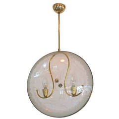 1950s Italian Pocket Watch Pendant Light in the Style of Pietro Chiesa