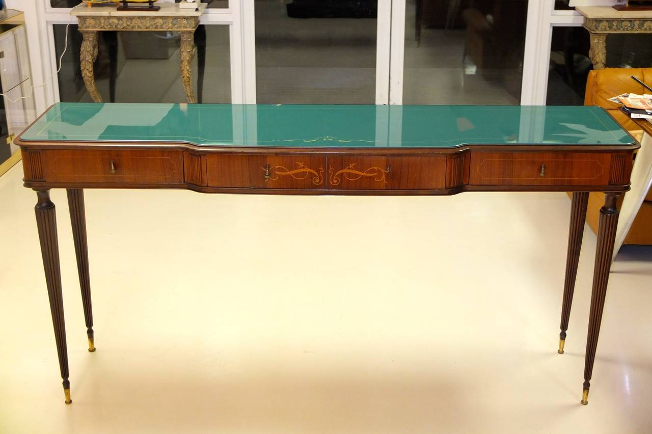 Paolo Buffa Style Rosewood and Mahogany Console Table 8