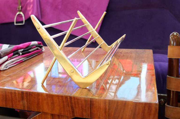 Solid Brass Book Stand For Sale 1