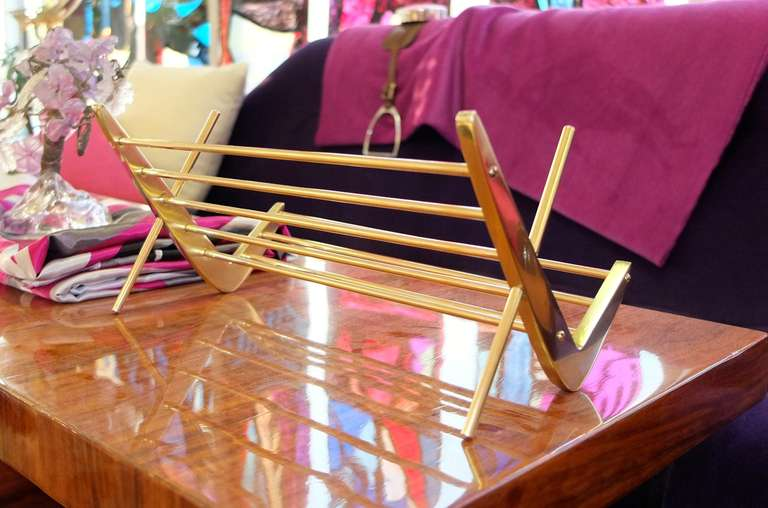 Solid Brass Book Stand For Sale 2