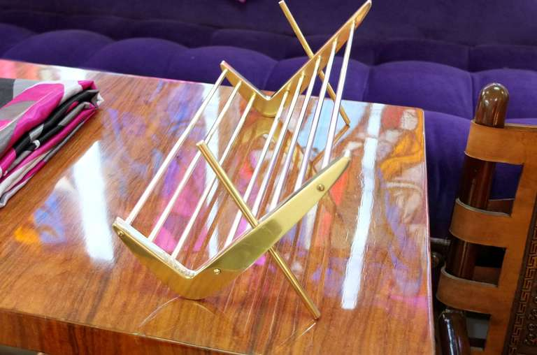 Solid Brass Book Stand For Sale 4