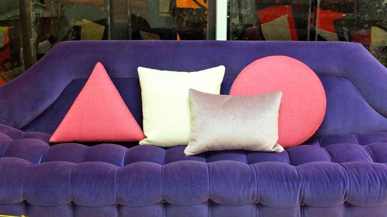 Gondola Sofa in Purple Velvet by Adrian Pearsall 10