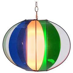Lightolier Multi-Color Acrylic Sphere Pendant