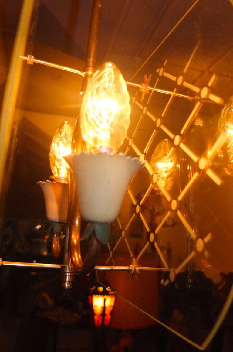 Pietro Chiesa Style Italian Lantern Pendant For Sale 4