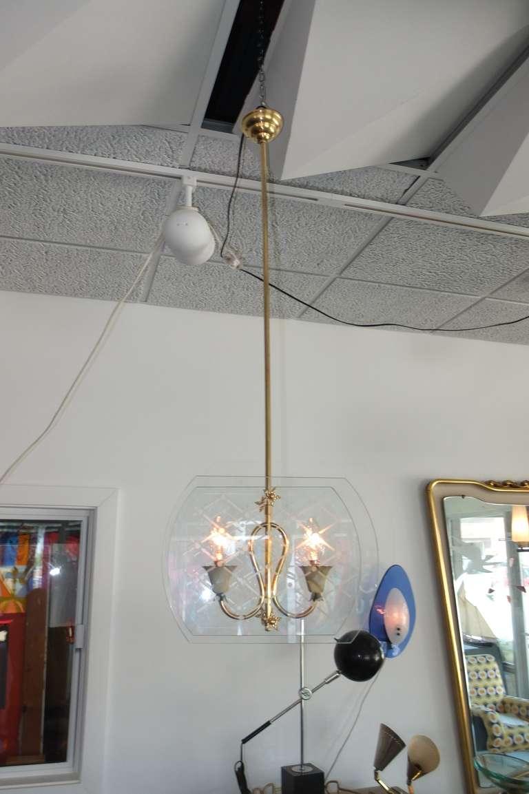Pietro Chiesa Style Italian Lantern Pendant For Sale 2