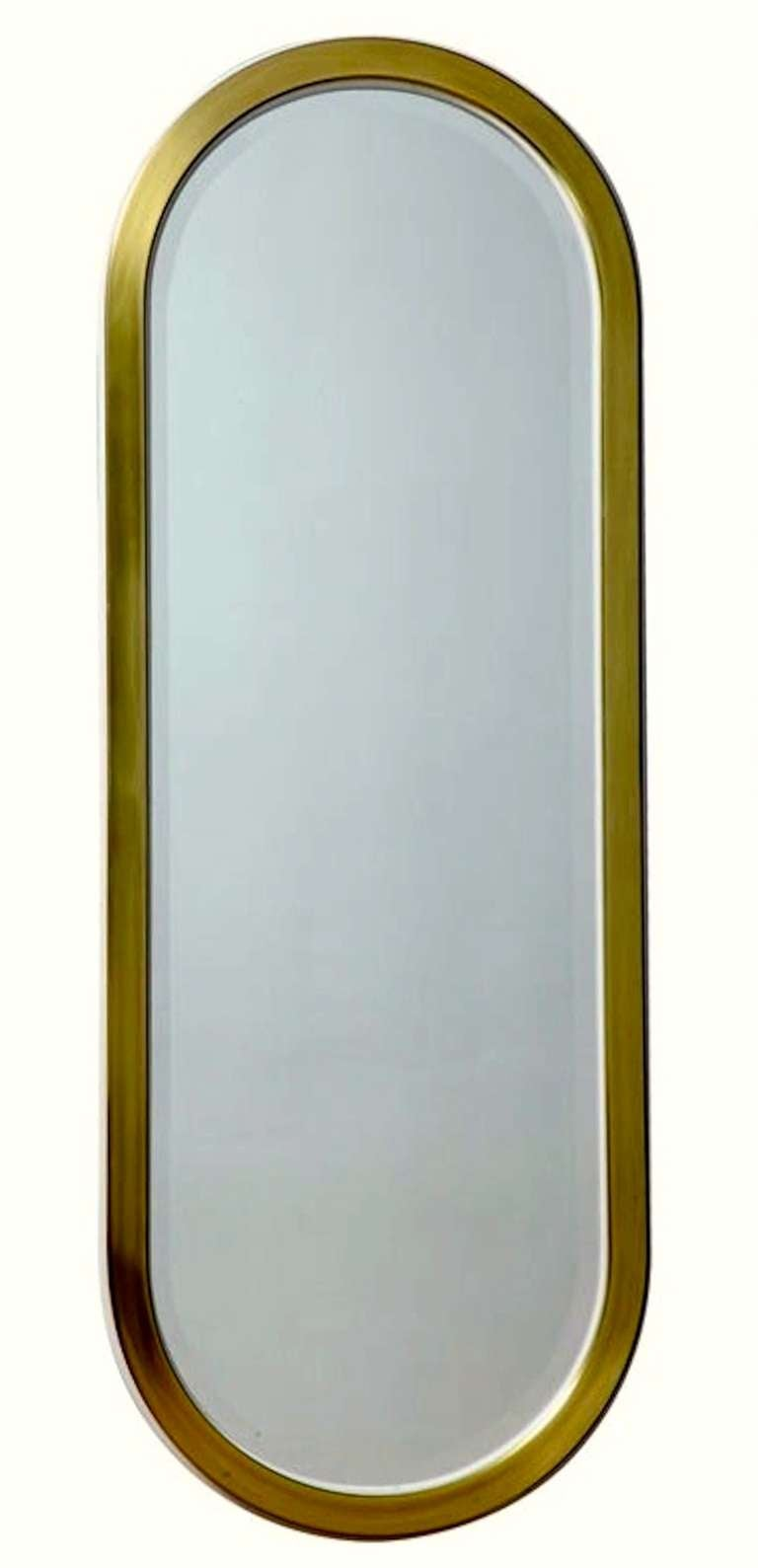Mastercraft Brass Racetrack Mirror For Sale 4