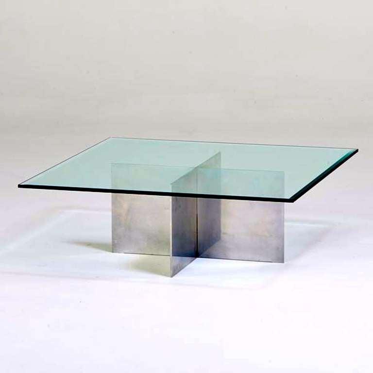 British Paul Mayen for Habitat Aluminum Cocktail Table For Sale