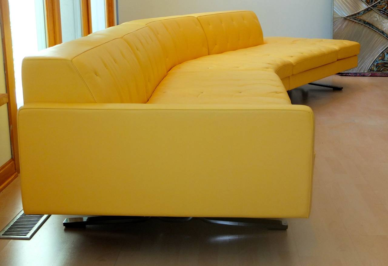 Kennedee Yellow Leather Sofa By Jean Marie Massaud For Poltrona Frau At 1stdibs
