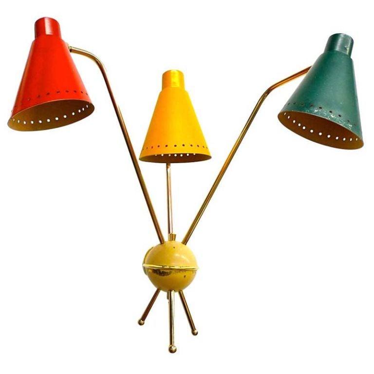 Kobis & Lorence Three Arm Wall Lamp