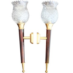 Pair of French 1950's Torchere Sconces