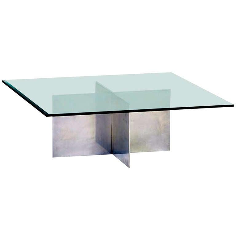 Paul Mayen for Habitat Aluminum Cocktail Table For Sale