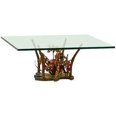 Silas Seandel Sculptural Bronzel Cocktail Table