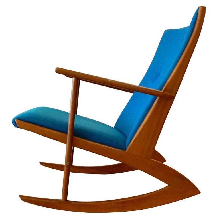 georg jensen danish teak rocker 1958 at 1stdibs. Black Bedroom Furniture Sets. Home Design Ideas