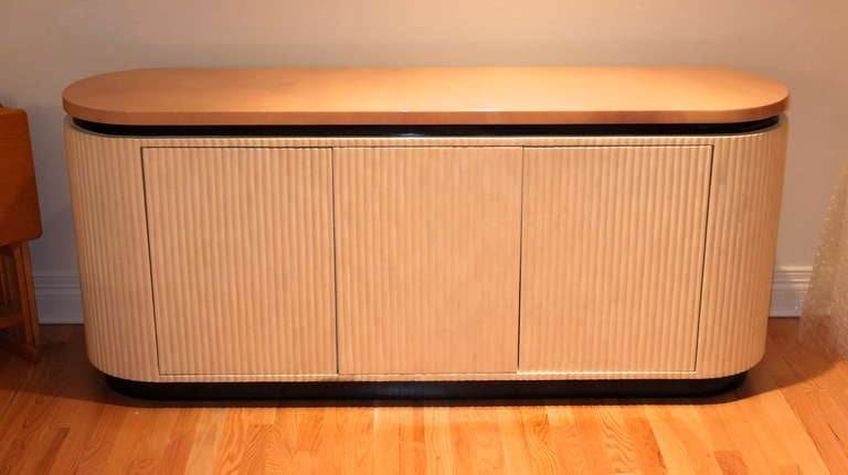 Late 20th Century Lacquered Goatskin Credenza by Enrique Garcel of Colombia For Sale