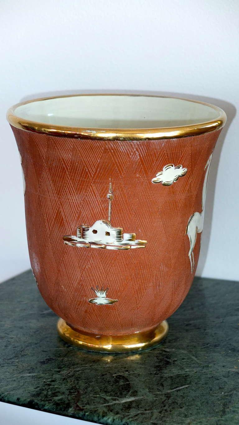 Italian Art Deco Vase For Sale 3