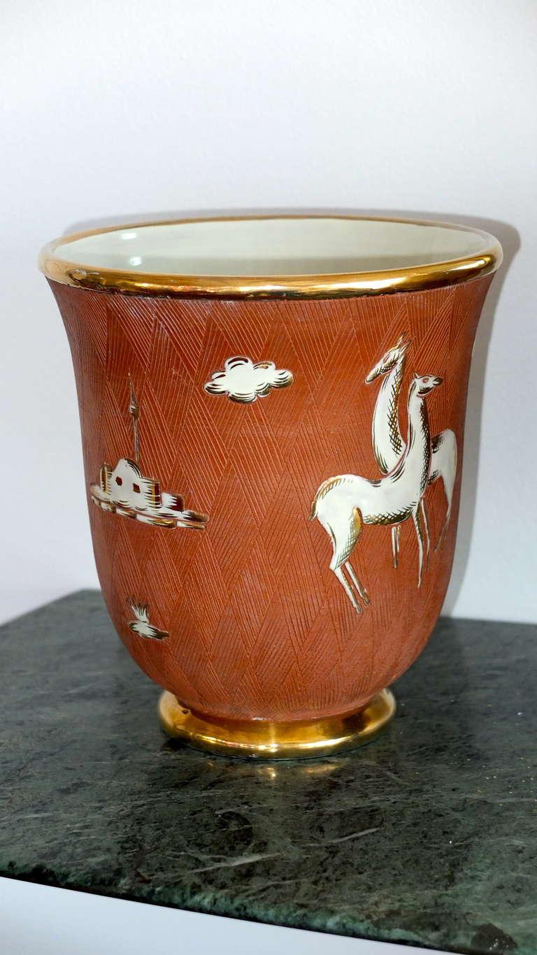 Italian Art Deco Vase For Sale 5