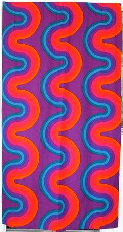 Verner Panton Pair of Original Curtain Panels For Mira-X