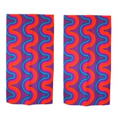 Pair of Original Curtain Panels By Verner Panton For Mira-X