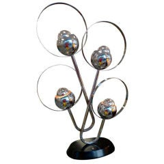 Space Age Chrome Table Lamp