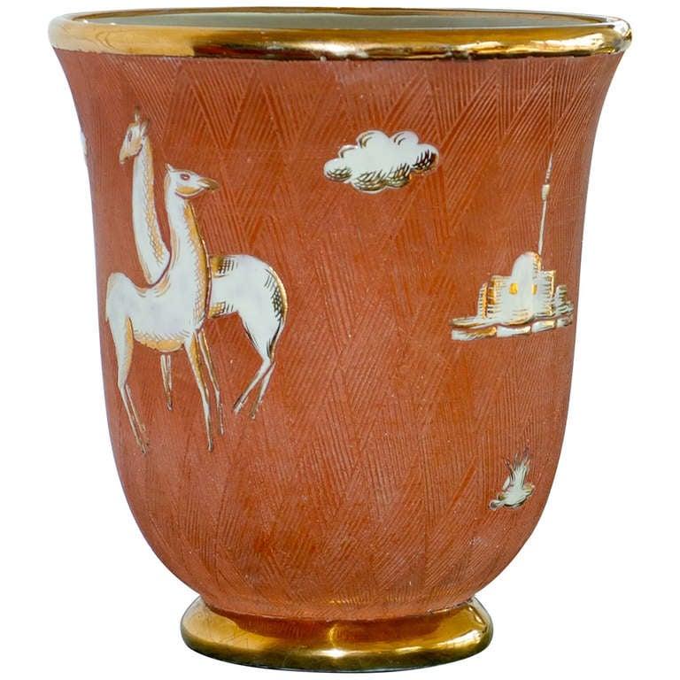 Italian Art Deco Vase For Sale