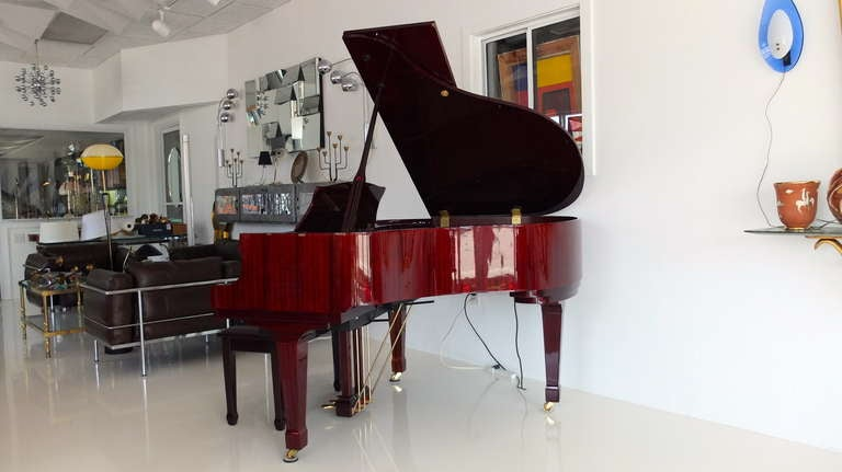 Story And Clark Baby Grand Qrs Player Piano In Red