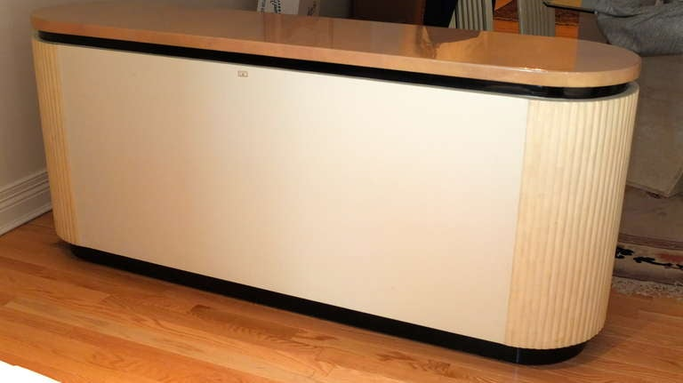 Lacquered Goatskin Credenza by Enrique Garcel of Colombia In Excellent Condition For Sale In Hingham, MA
