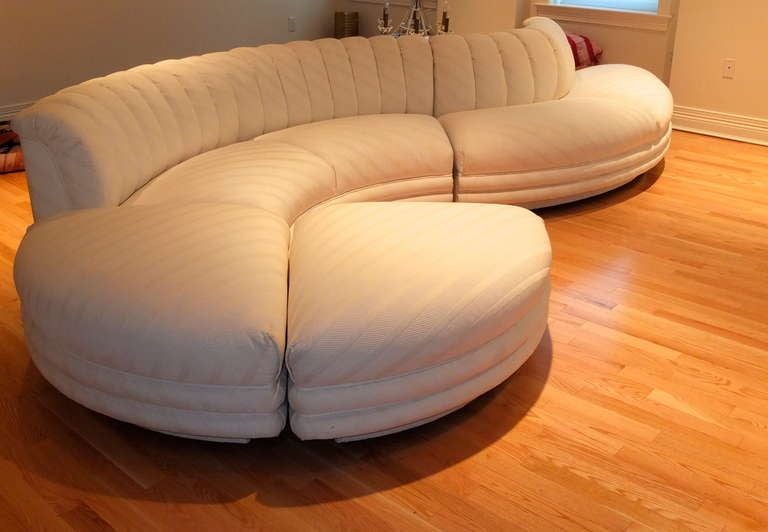 Serpentine Curvaceous Sectional 8