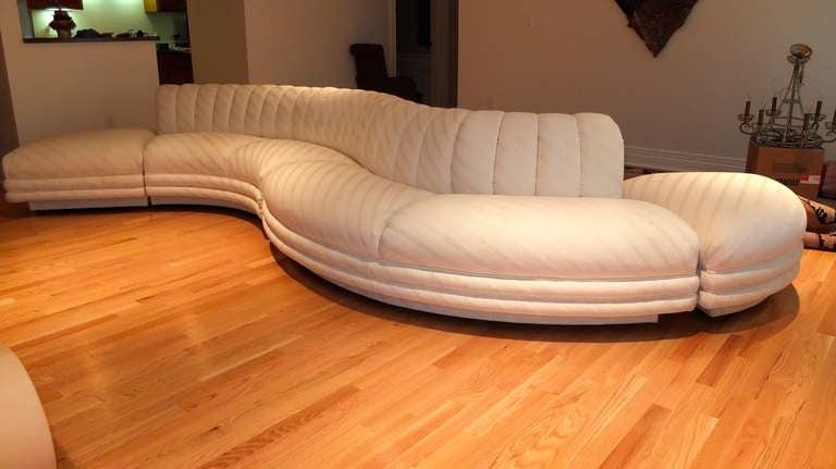 Serpentine Curvaceous Sectional 10