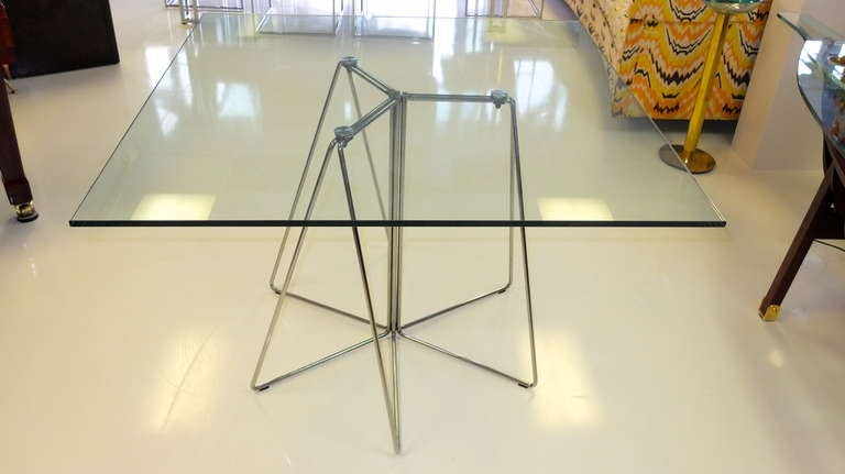 Massimo & Lella Vignelli Paperclip Table For Knoll For Sale 2