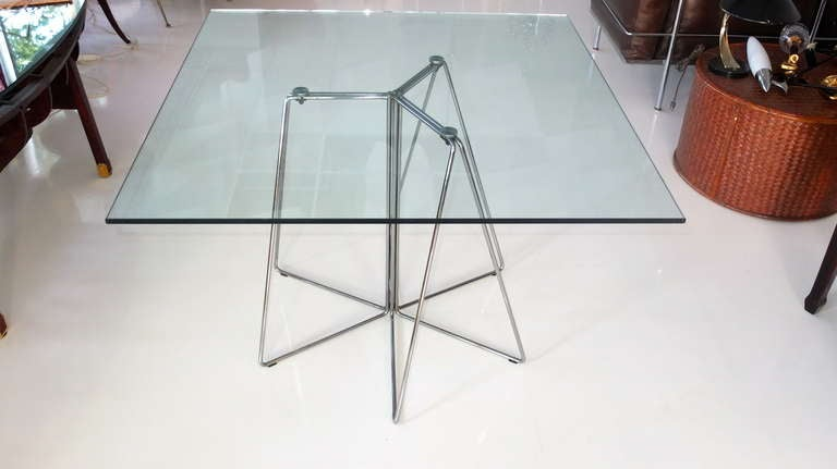 Modern Massimo & Lella Vignelli Paperclip Table For Knoll For Sale