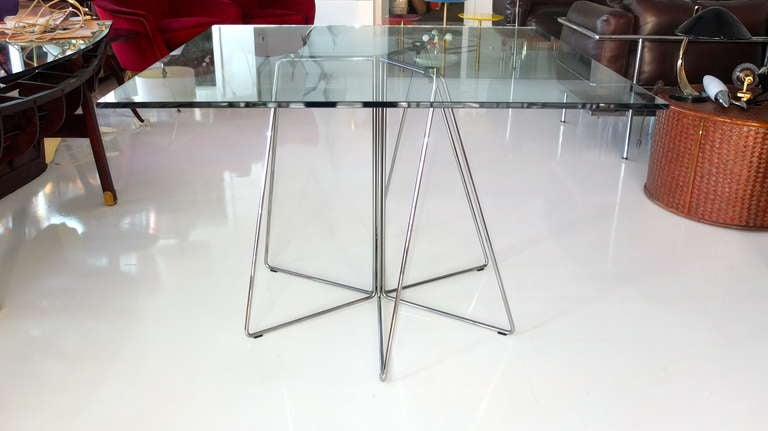 Massimo And Lella Vignelli Paperclip Table For Knoll For Sale At 1stdibs