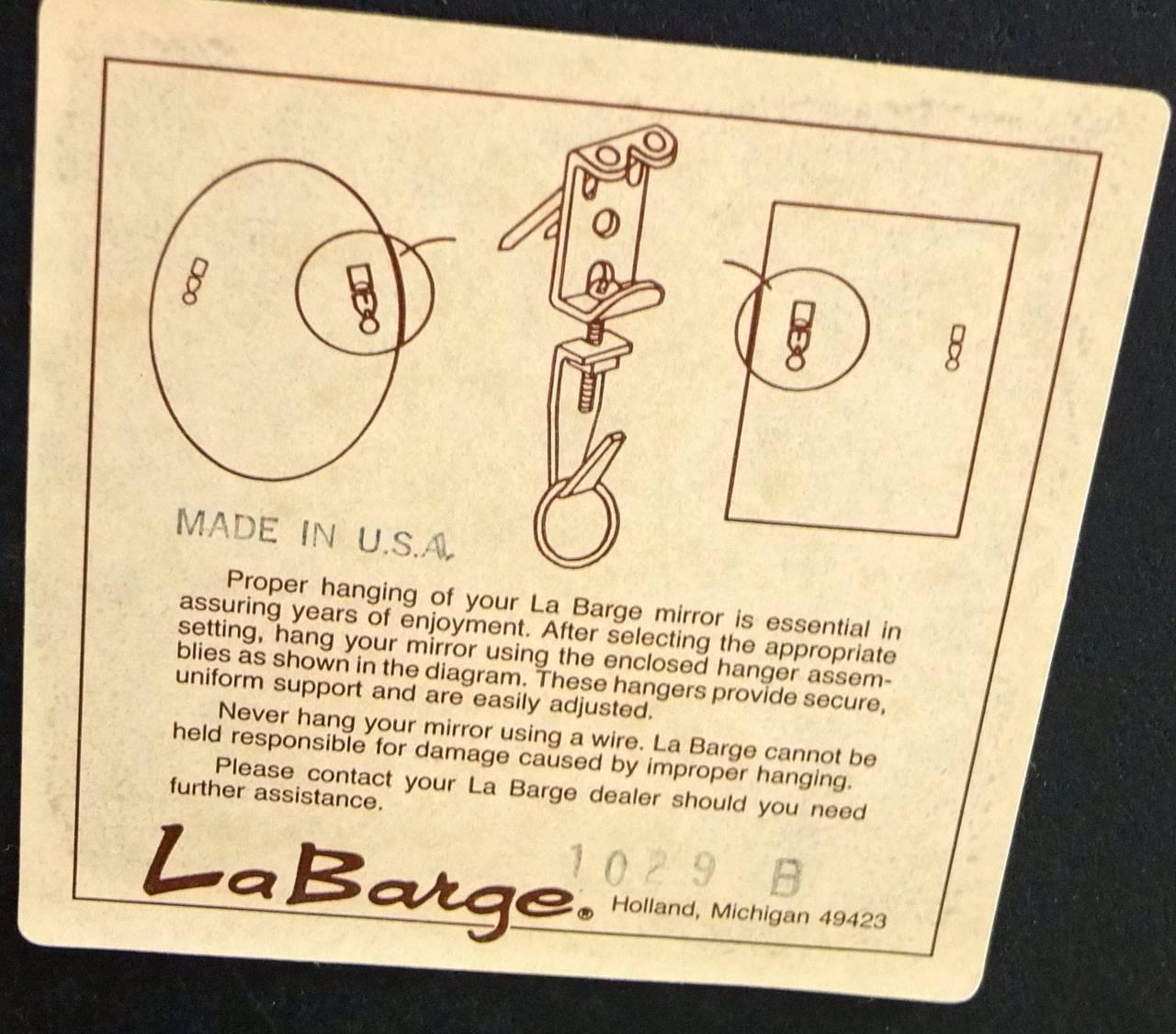 La Barge Long Brass Octagonal Mirror For Sale 2