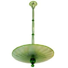 1960s Green Murano Glass Chandelier