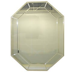 La Barge Long Brass Octagonal Mirror