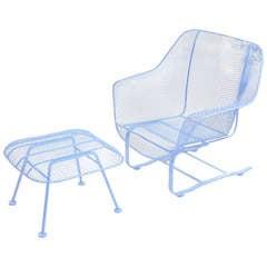 """Woodard """"Sculptura"""" Bouncer Lounge Chair & Ottoman"""