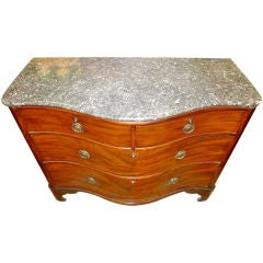19th Century Serpentine Chest of Drawers