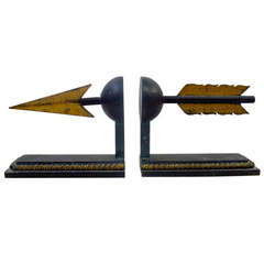 Pair of French Modernist Flèches Bookends
