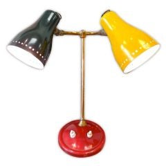 French 1950's Dual Headed Desk Lamp