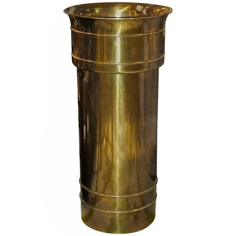 Mastercraft Patinated Brass Pedestal Jardiniere For Sale